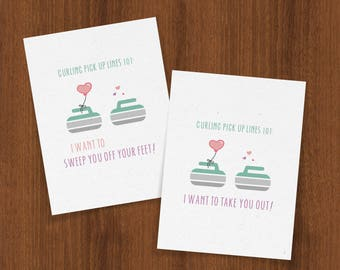 Curling Pick Up Lines 101: Valentine's Day Card for Your Favorite Curlers