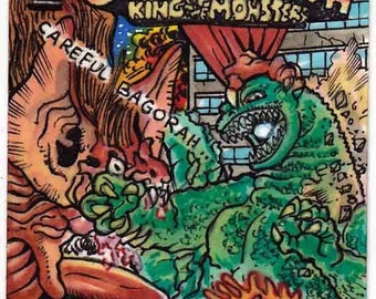 "Dark Horse Godzilla Vs Bagorah ""Nach Arthur Adam"" Abdeckung Erholung persönliche Skizze Karte"