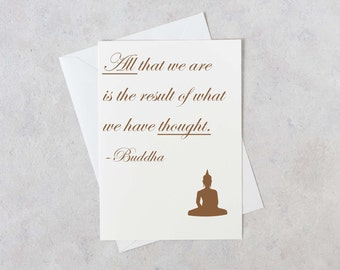 Buddha card etsy inspirational card new thought all that we are buddha quotes inspirational thoughts m4hsunfo