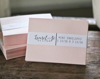 Coin envelope etsy blush mini envelopes mini envelope size 2 1116 x 3 11 reheart Choice Image