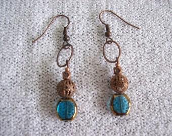 Burnished Copper Earrings