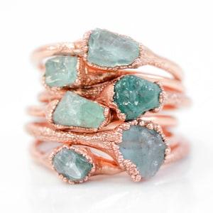Raw / Aquamarine Ring / Mom Gift / Raw Stone / Mothers Day / Aquamarine Jewelry / Gift for Her / Raw Stone Jewelry / March / Boho
