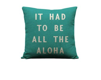 18x18in All the Aloha Pillow Cover