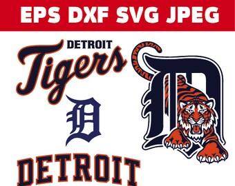 Detroit Tigers logo in SVG / Eps / Dxf / Jpg files INSTANT DOWNLOAD!