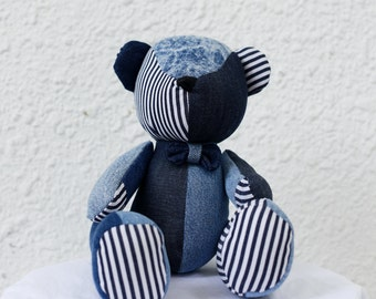 Denim Patchwork Bear