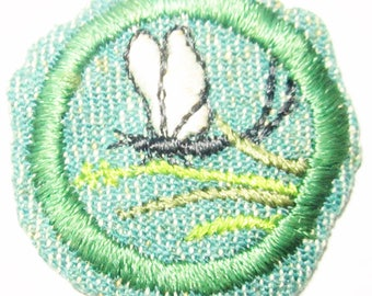 """Vintage Intermediate Girl Scout Badge """"Insect"""" circa 1948"""