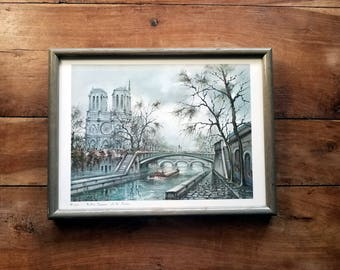 Paris Street Scene Litho by Maurice Legendre, French Art, Paris Art, Maurice Legendre