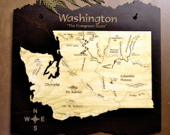 Washington State Wood Map