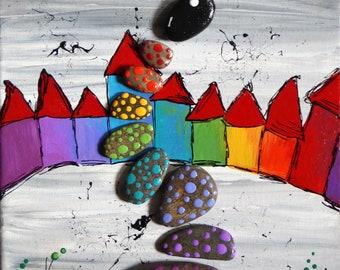 Decorative canvas Tildart 'Color ' Home'