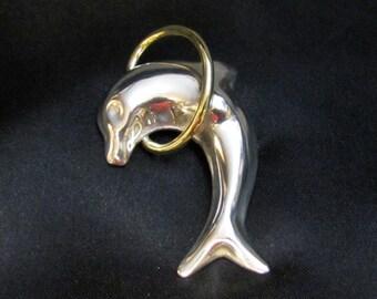 Sterling Dolphin Brooch