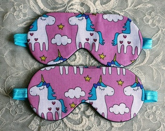Sleep Mask Unicorn Lover Gift, Valentines Day Gift for Her, Teen Girl Gifts, Girlfriend Gift, Kids eye mask, School Supplies, Unicorn Party