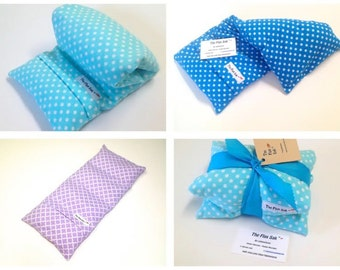 HEATING PAD - Microwavable FLAX Wrap - gift ideas - Pain - Removable/Washable Cover- Hot or cold pack- Large -Polka dot Flannel