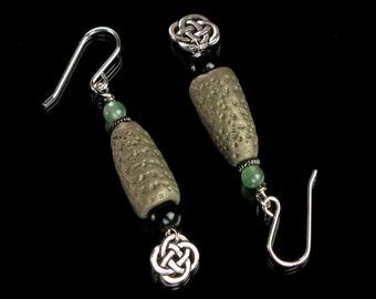 Unique Celtic Silver Earrings, Irish Earrings, Earthy Celtic Knot Jewelry, Unique Earrings Handmade Gift for Her, Mom, Girlfriend, Woman