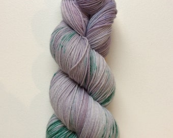 Lavender Fields - hand dyed worsted weight yarn - 100% superwash merino