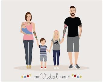 Additional Infant for Custom Family Portrait, baby portrait