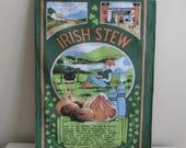 4 Vintage Irish Linen Tea Towels Choose One of Four Irish Stew Irish Coffee Irish Recipes Irish Memories