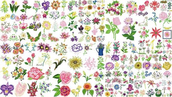Disegni di fiori per macchina da ricamo istantanea scarica for Ricamo a macchina