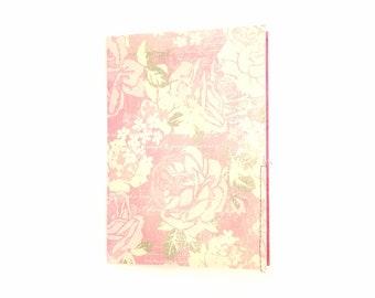 Pink Floral Junk Journal - Flower Notebook - Scrapbook - Handmade Childs Memory Book - Stitched Keepsake Journal - Pink Travel Journal