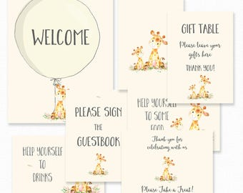 Giraffe baby shower Etsy