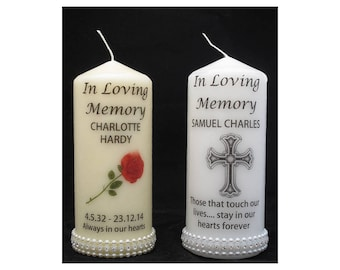 Memorial candle, In loving memory candle, remember a loved one, everything customisable, personalised memorial candle, remembrance candle