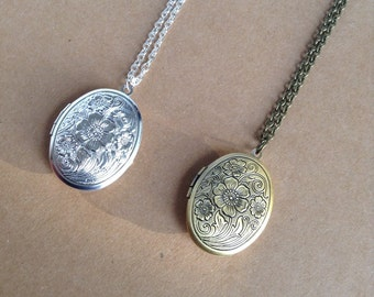 Bronze Locket, Large Oval Locket, Mother's Day gift,
