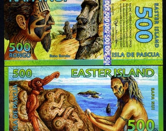 Easter Island, 500 Rongo, 2012, Polymer, UNC > Redesigned
