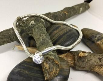 """925 Sterling Silver Snake Bracelet Size 8"""""""