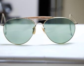 1940s Flight Aviator Sunglasses  Pilots /1950s /cable arms #1315