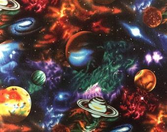 Standard or Queen Pillow Case / Solar System / Star Gazers