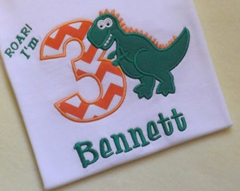 T-Rex Dinosaur Birthday T-Shirt or Bodysuit