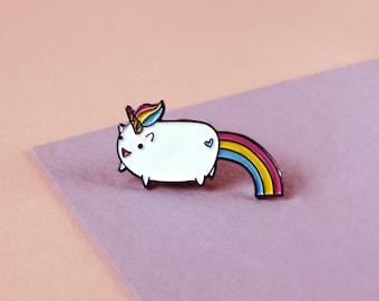 Unicorn Enamel Pin - Unicorn Gift - Lapel Pin - Enamel Pin - Gift For Her - Unicorn Jewelry/Jewellery - Rainbow Glitter Enamel Pin