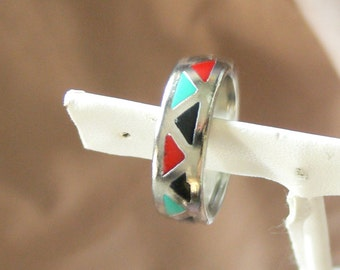 inlay  band  ring size 8 1/2