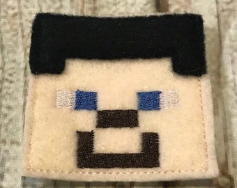 UNCUT Minecraft inspired Steve Feltie