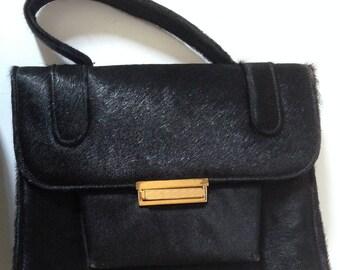 Black Cowhide Handbag
