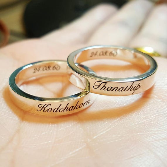 Stackable Rings Name rings Personalized Ring Custom Name