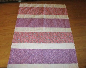Toddler Girl Quilt -- Handmade -- OOAK -- sale