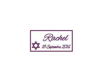 Christening/birth star of david candy labels