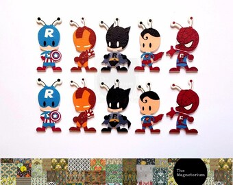 Superhero Fridge Magnet Set