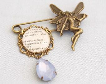 fairy brooch, shawl pin brooch, kilt pin brooch, fantasy fairy jewelry, fairy shawl pin