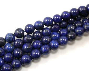 Pearls Lapiz lazuli 8 mm blue set of 4