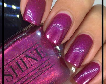Plum Crazy Deep Purple Color Shifting Indie Nail Polish