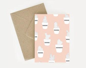 Card patterns/pattern pink cactus