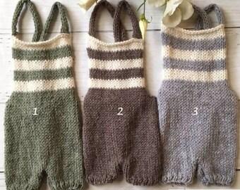 Sitter Boys Knitted Romper