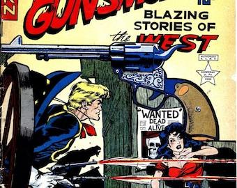 Gunsmoke western comic cover art issue #2 June/July 1949 youthful magazines reproduction