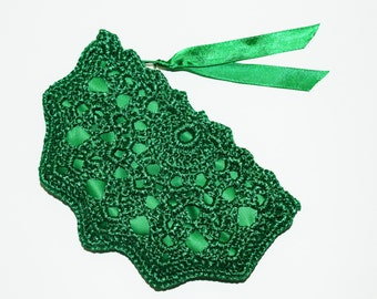 Emerald Green Crochet Coin Purse - Small Coin Pouch - Emerald Purse Bag - Key Storage - Small Gadget Case - Green St Patrick's Gift
