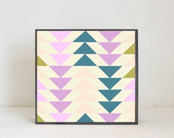 modern nursery art, boho nursery art, geometric art print baby room decor tribal southwest safari nursery decor pink nursery redtilestudio