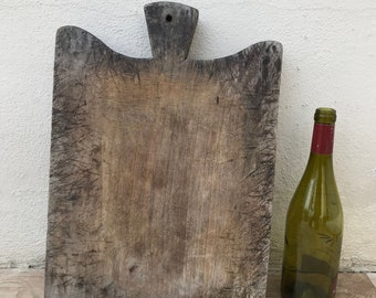 ANTIQUE VINTAGE FRENCH bread or chopping cutting board wood 09041822