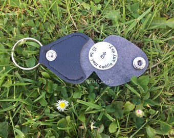 Hand Stamped Personalized Golf Ball Marker or Magnetic Hat Clip, i'd be your caddie any day, golf bag, personalsied, golfer, christmas,