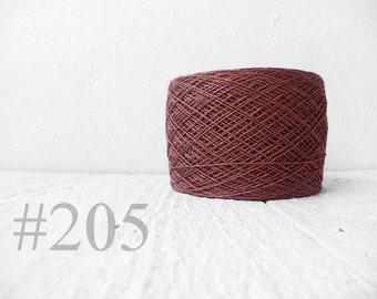 Laceweight Linen yarn - pinky brown #205