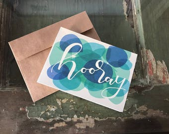 "Hooray | Greeting Card | 4"" x 5.5"" 